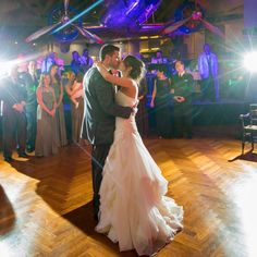 """Dancing under the DC-3 at The Henry Ford, how sweet is this bride's comment! """"We instantly fell in love with the airplane over the dance floor because we did long-distance for a big part of our relationship while Pete..."""
