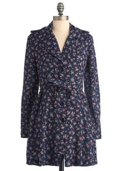 floral pattern trench