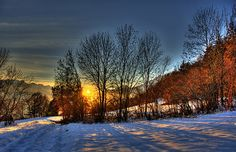 the end of winter....amazing angles as the sun sets.