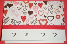 Valentine's Day Card with Quilled Hearts by SarasPaperPretties, $6.50