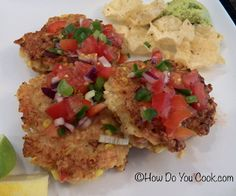 Crispy Shrimp Cakes with Lime Salsa