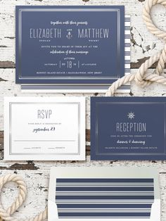 Nautical wedding sta