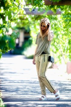 Late Afternoon in her Kenneth Cole Kim pant