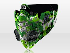Respro® Skins™ pollution mask - PETAL Green #matchyourstyle