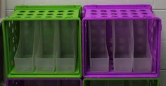 This would be a great way to organize differentiated centers. Each center can have a different color crate and then the holders inside could be labeled for each group offering leveled activities for centers.