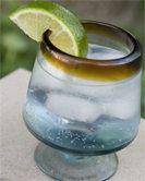 Foghorn--gin, fresh lime juice, ginger ale or ginger beer, lime wedge