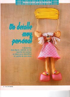 Muñeca cartel para habitación en Goma Eva (Foami, Fomi, Foamy)