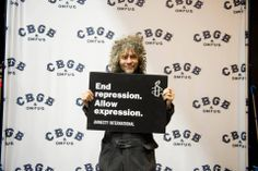 Wayne Coyne of the Flaming Lips for Amnesty International