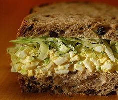 Recipe: Egg salad sandwich with dill