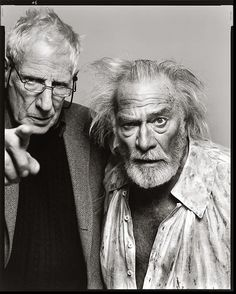 "Jonathan Miller, director, and Christopher Plummer, actor, ""King Lear,"" New York, February 16, 2004   	Copyright	 	© 2008 The Richard Avedon Foundation"