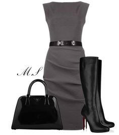Elegant and yet Casual Attire for the Modern Gladiator (Love the dress & Handbag maybe set with a different set of heels)