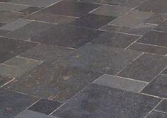 slate paver, pattern, floor, landscap idea, tile, outdoor, patios, mile hous, garden