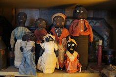 19th Century black doorstop dolls