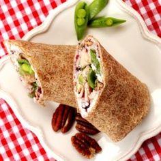 Turkey Cranberry Cream Cheese Wrap