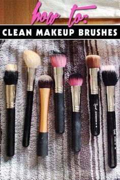 Kick the germs and learn how to clean your makeup brushes easily.