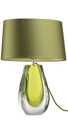 Table Lamps, Designer Green Art Glass Table Lamp, so beautiful, one of over 3,000 limited production interior design inspirations inc, furniture, lighting, mirrors, tabletop accents and gift ideas to enjoy repin and share at InStyle Decor Beverly Hills Hollywood Luxury Home Decor enjoy & happy pinning