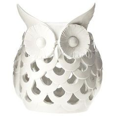 White Owl Candle Hol