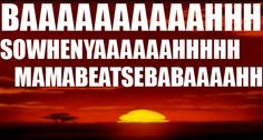 I always sing this song when I see the Lion King sunrise...or sunset!