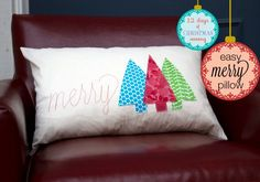 Merry-pillow-cover tutorial by The Train to Crazy! Love it!