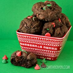 Chocolate Chocolate Chip Christmas Cookies