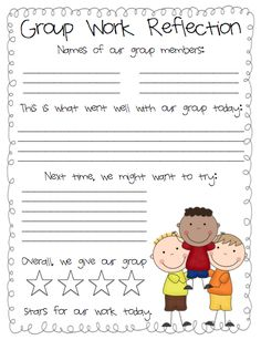 Group Work Reflection Freebie