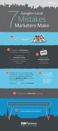 7 #GooglePlus #Local Mistakes Marketers Make