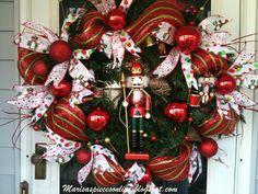 christma wreath, nutcrack wreath, christma decor, wreath idea, christma idea