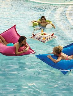 Ultimate in cushioned comfort in the water or on the deck.