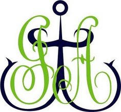 monogram with anchor