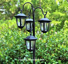 Outdoor DIY Solar Light Lamp Post with Flower Planter