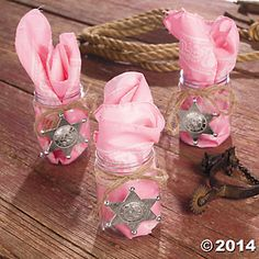 Pink Cowgirl Favors - Sheriff Callie Party??