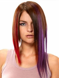 I want to get this for my daughter, and maybe for myself. Real hair clip-in highlights in funky colors. colored hair, style, hair clips, color hair, colors, hair extens, human hair, hair color, extensions