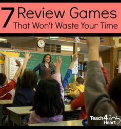 7 Classroom Review Games that Won't Waste Time | Teach 4 the Heart - I like un wheel of fortune