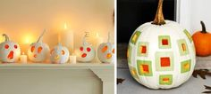 White Painted Pumpkins