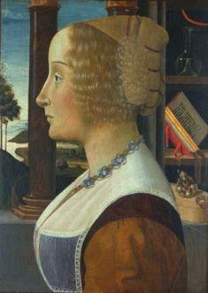 Woman, ca. 1490 (Domenico Ghirlandaio) (1449-1494)  Huntington Library, CA Interesting necklace.