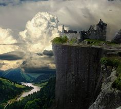 This is just preposterously beautiful. scotland, cliff castl, castles, germany, beauti, travel, castl ruin, place, kilchurn castl