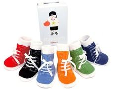 """""""high top"""" socks for a baby boy"""