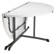 "Table 60"" Round Fold-in-Half desmoinesrental.com"