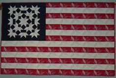 flag quilt, flag wall, sew, americana, red, flags, etsi, wall quilts, patriot quilt