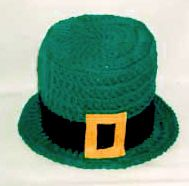 St. Patricks Day TP Topper -- free pattern from Maggie Weldon, Maggie's Crochet -- very cute!