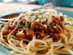 Recipe of the Day: The Pioneer Woman's Meat Sauce          Ground beef, sausage and herbs  combine with tomatoes to create Ree's signature meat sauce.           #RecipeOfTheDay