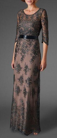 Phase Eight Sabrina beaded dress, Charcoal