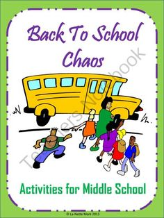 Back to School Chaos - Middle School Activities from La-NetteMark on TeachersNotebook.com -  (21 pages)  - 7 Activities to help with those first days of school!