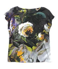 Escada floral printed blouse