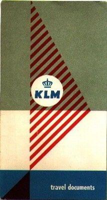 KLM travel documents folder, 1952. Designed by Otto Treumann, Bijzondere Collecties Universiteit Amsterdam.