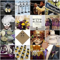 new orleans, yellow weddings, wedding themes, engagement parties, inspiration boards