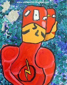 Cubist Superheroes
