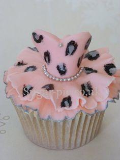 Leopard Print Tutu cupcake