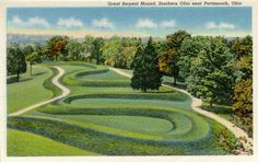 """The famous Serpent Mound in Ohio is featured with history and burial mounds near the site.  Photos from """"The Nephilim Chronicles: A Travel Guide to the Ancient Ruins in the Ohio Valley."""""""