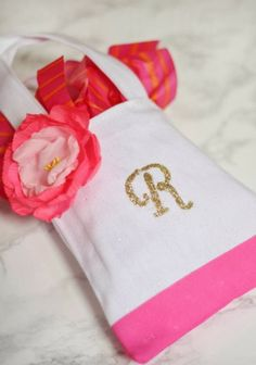 A Thoughtful Place: monogrammed tote bag